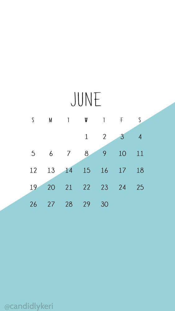 Calendar Wallpaper For Android : Blue and white color block june calendar wallpaper