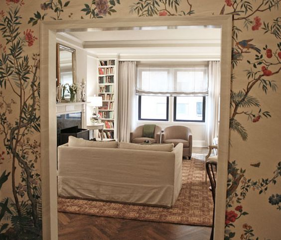 hand-painted wallpaper for a client - Good Bones, Great Pieces