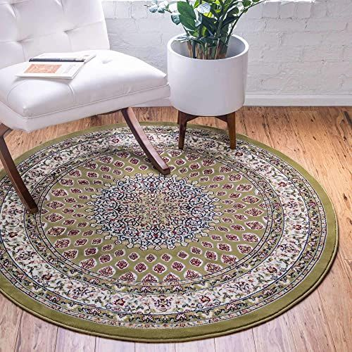 New Unique Loom Narenj Collection Classic Traditional Medallion Textured Green Round Rug 10 0 X 10 0 Home Decor 204 59 Amto In 2020 Round Rugs Unique Loom Rugs