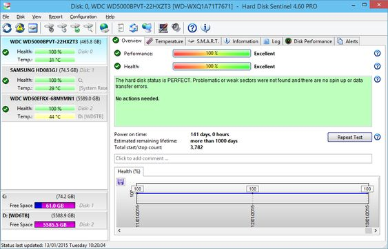 Hard Disk Sentinel Professional Screenshots