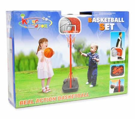 1.6M Adjustable King Sport Basketball Set With Carry Case
