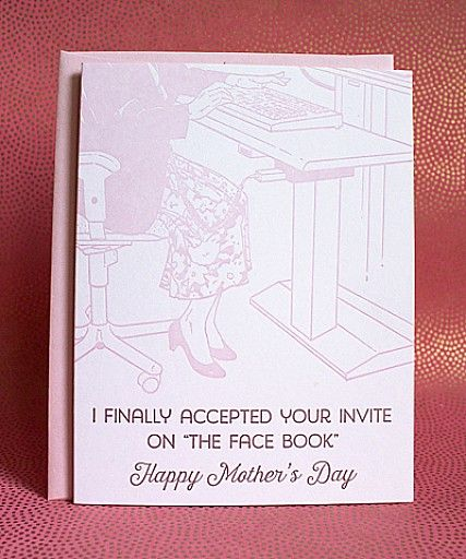 The Face Book - funny mother's day card