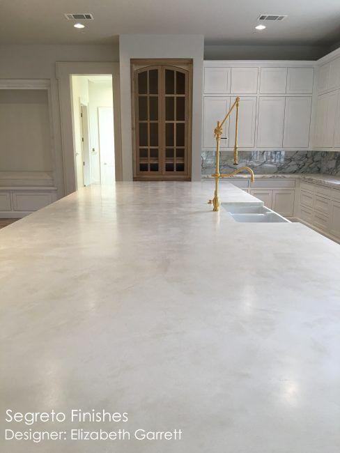 Segreto's new plaster Countertops - on Hello Lovely Studio