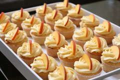Peach Cupcakes with Peach Cream Cheese Frosting