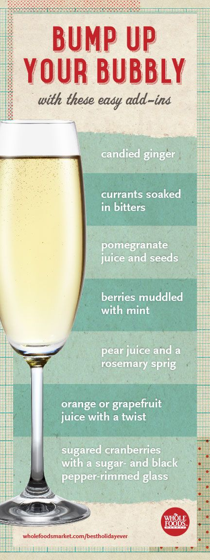 Bump up your bubbles for the holidays! #holiday #cocktail #recipe