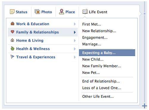 #Facebook: Expecting a baby