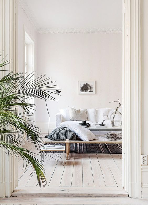 Swedish Living Room in Neutrals   Planete Deco