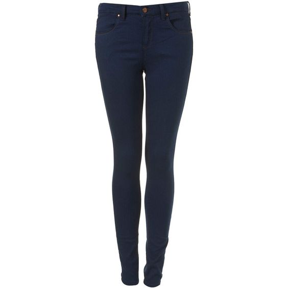 MOTO Blue Supersoft Skinny Leigh Jean ($76) ❤ liked on Polyvore