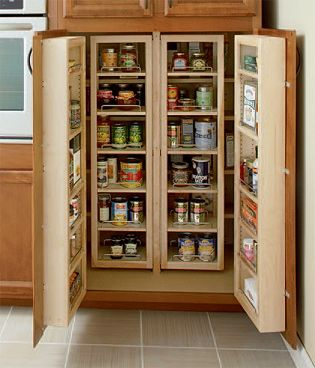 swing out pantry doors with shelving for the home. Black Bedroom Furniture Sets. Home Design Ideas