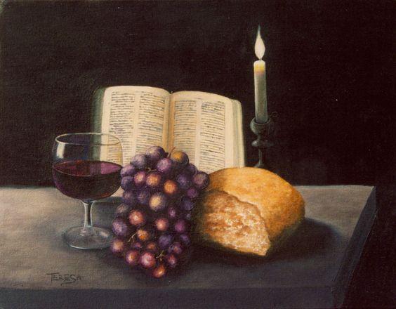 Christian table centerpieces communion table still life - Decoration table de communion ...