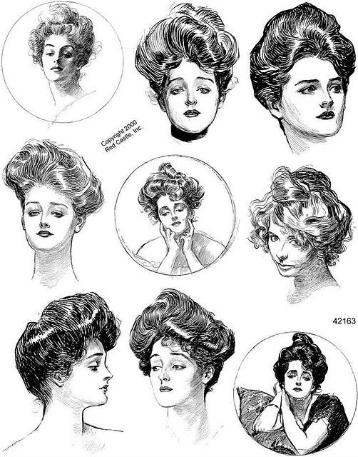 """York made a wallpaper of the Gibson Girls called """"Puker Up Buttercup"""" in thier Risky Business collection."""