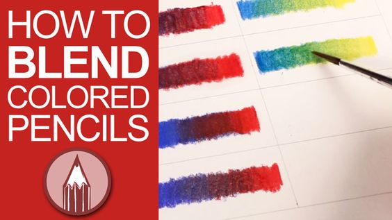 Explore five different tools and techniques for blending colored pencils.