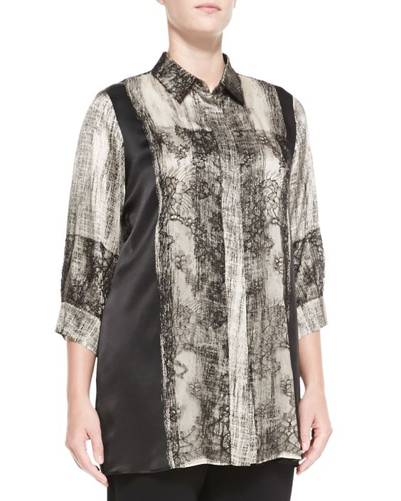 Falco Printed 3/4-Sleeve Blouse, Women's