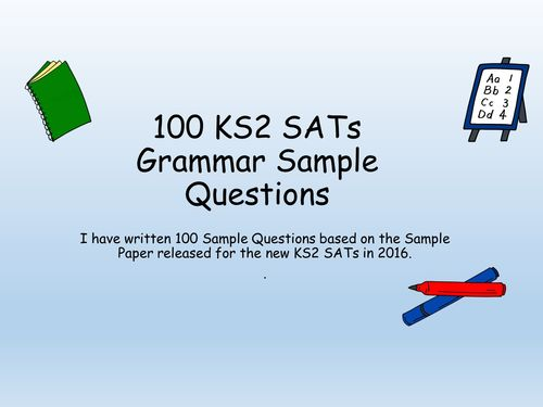 100 Year 6 SATS Challenges English Grammar Question Starters (New Curriculum)