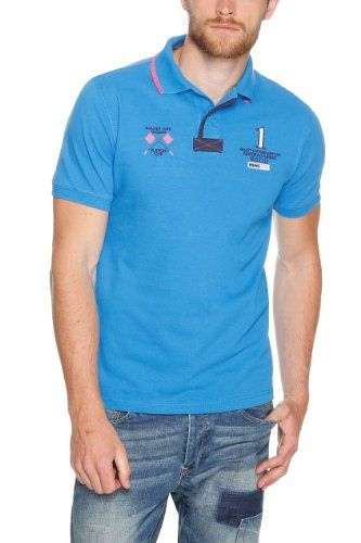 s.Oliver Herren Poloshirt 13.405.35.3803, Einfarbig, Gr. Medium, Blau (moonlight blue 5519)