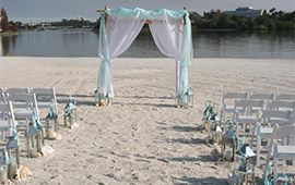 on the beach with blue and white hues for a Cinderella theme