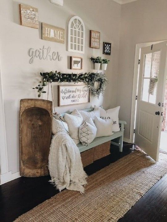 93 Smart Farmhouse Rustic Entryway Decorating Ideas 86 Aacmm Com Farm House Living Room Inviting Home Home Decor