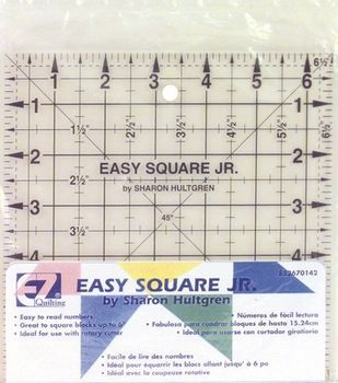 Wrights®/EZ Square Jr. Ruler-6-1/2''X6-1/2''