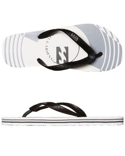 SURFSTITCH - MENS - FOOTWEAR - THONGS - BILLABONG JONOVAN THONG - WHITE BLACK