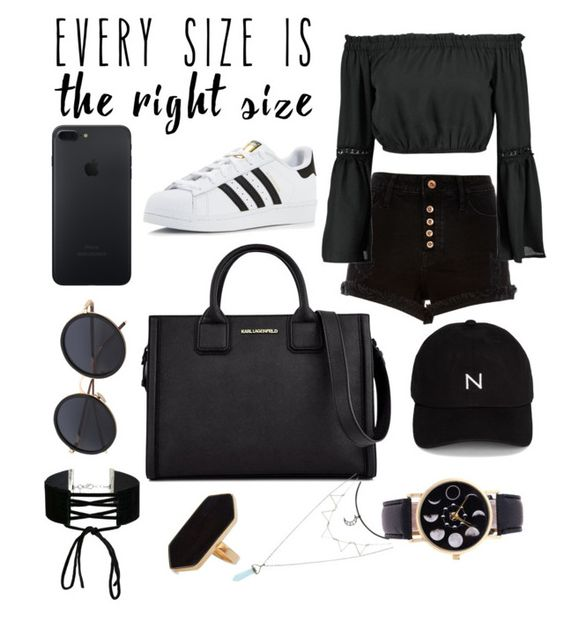 """Untitled #198"" by caiaia ❤ liked on Polyvore featuring River Island, Boohoo, adidas, Karl Lagerfeld, New Black, Miss Selfridge, Jaeger and powerlook"