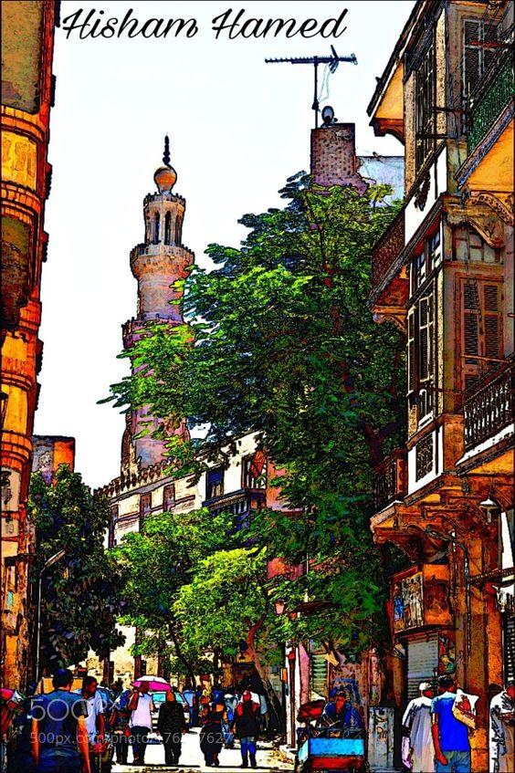 Modern old street view. by hishammostafa07. @go4fotos