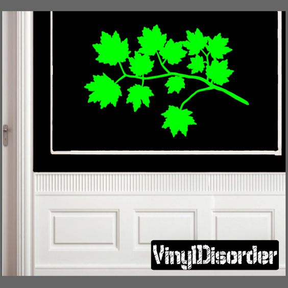Maple Leaves Wall Decal - Vinyl Decal - Car Decal - NS001