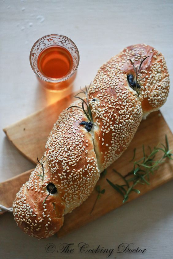 Make this turkish sesame bread, flavoured with rosemary, thyme and olive. RECIPE VIDEO included!