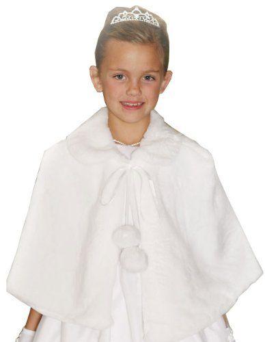 Ice Princess Cozy Cape in White