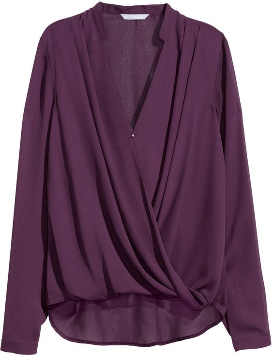 Love this top to pair with trousers - beautiful plum color - H&M ...