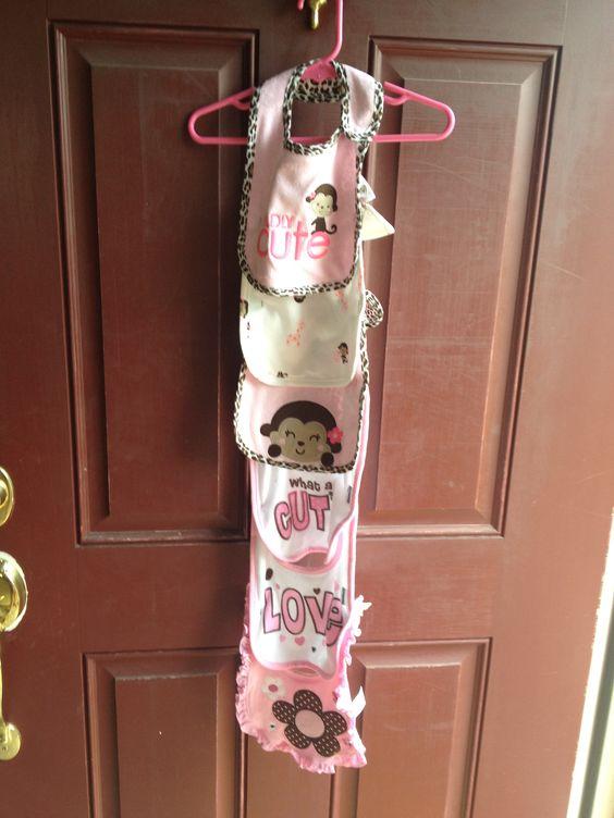 #baby #shower #bib #door hanger