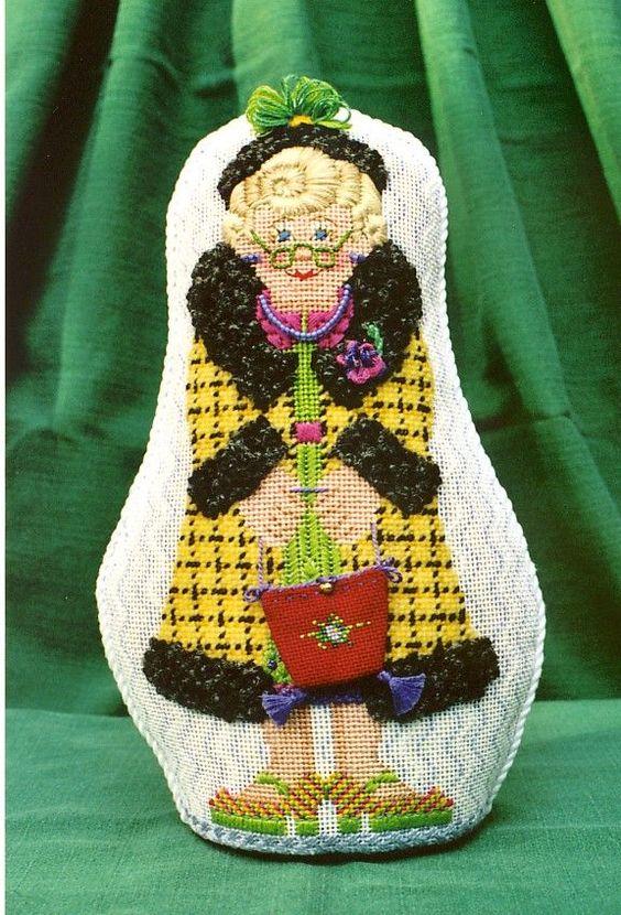 0 point de croix vieille dame, grand mere  - cross stitch old lady