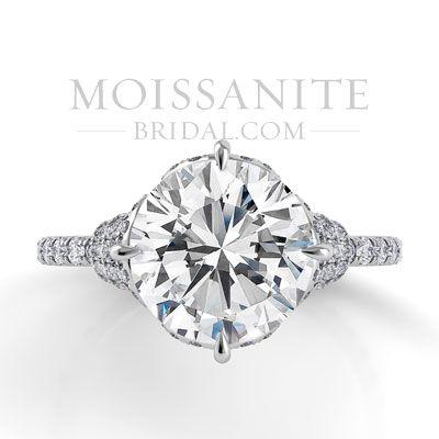 Danhov Classico Single Shank Forever Brilliant Moissanite Engagement Ring...moissanitebridal.com Love!