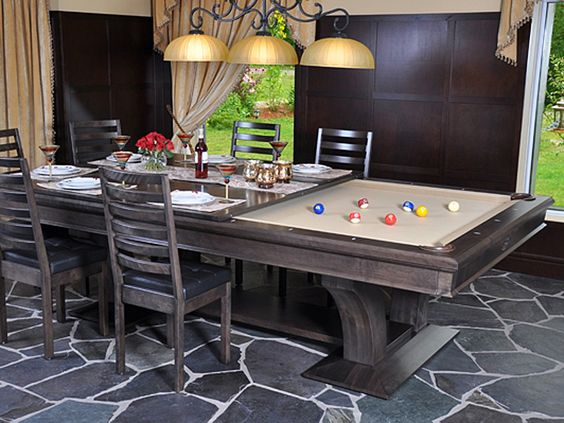 Canada Billiard La Condo Devine Dining Pool Table by Canada Billiard : Buy Online at Robbies Billiards