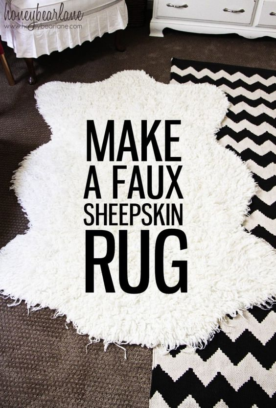 Make a Faux Sheepskin Rug - this would look so great layered in a nursery!