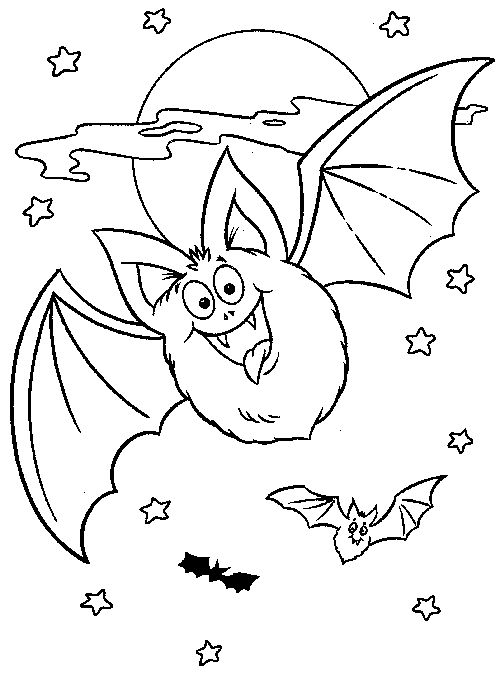 Top 20 Free Printable Bats Coloring Pages Online Halloween Bat Color Page