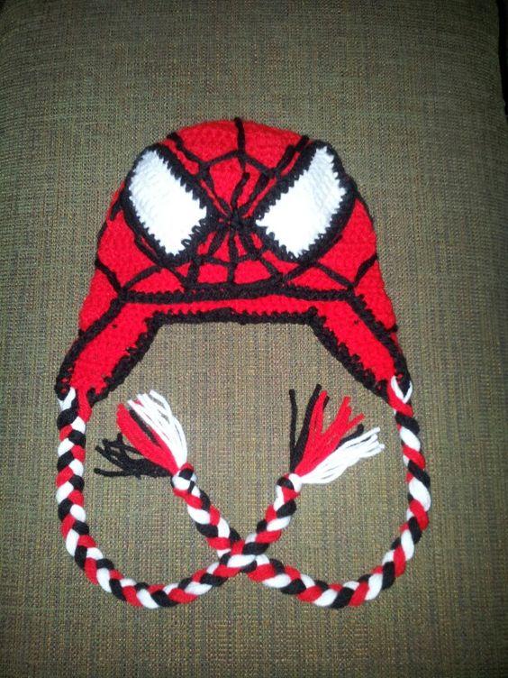 Spiderman, Hats and Crochet on Pinterest
