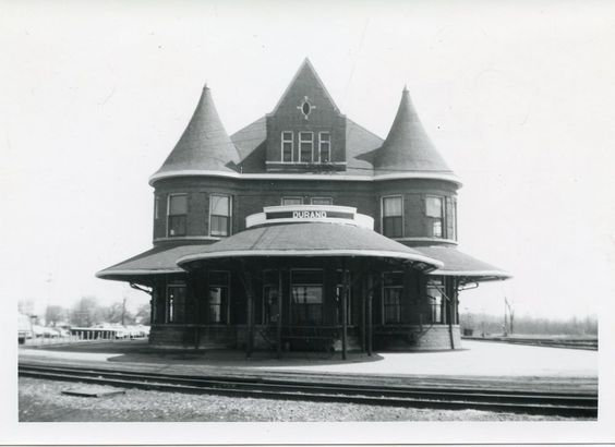 HH731 RP 1960s? GTW GRAND TRUNK WESTERN RAILROAD TRAIN STATION DURAND MI