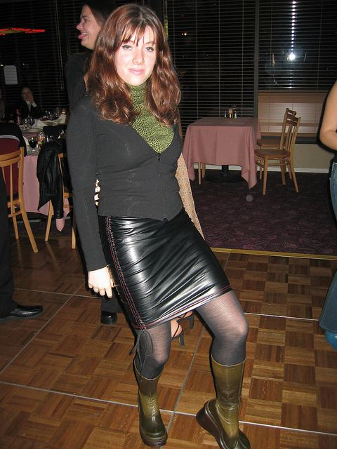 Tight Leather Skirt