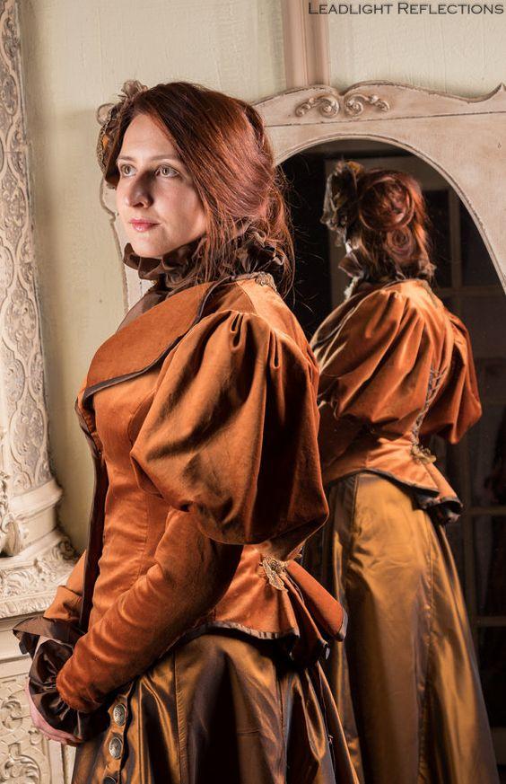 Edwardian day walking costume  victorian dress by DressArtMystery