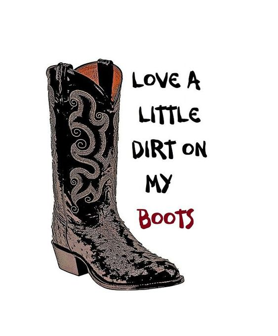 Little Dirt On My Boots Boots Gallery Wrap Canvas Music Wall Decor