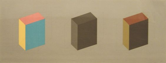 Forms Derived From A Cube In Colour (Simple & Superimposed) & Black…