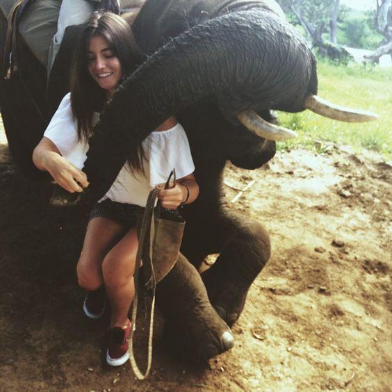 Elephant girl paradise animal dream travel
