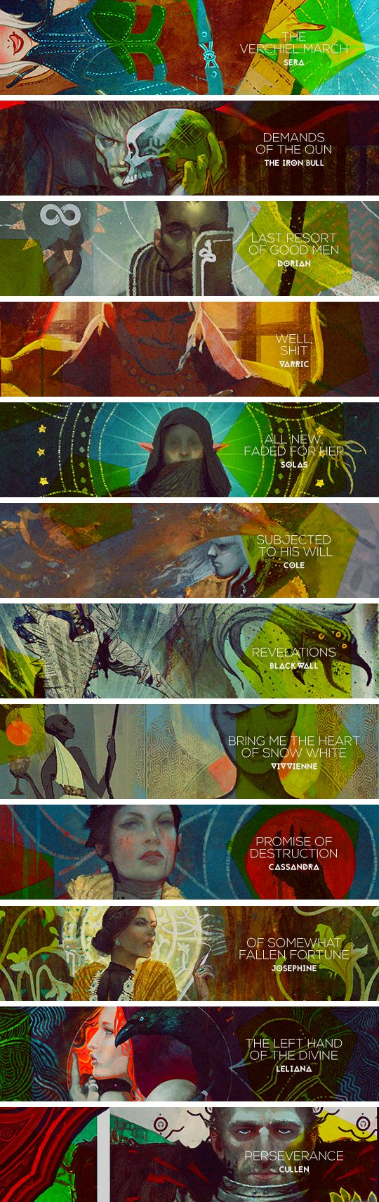 Dragon Age: Inquisition - Quests for the Inner Circle (Still kicking myself over the cleverness of Solas' anagram...)