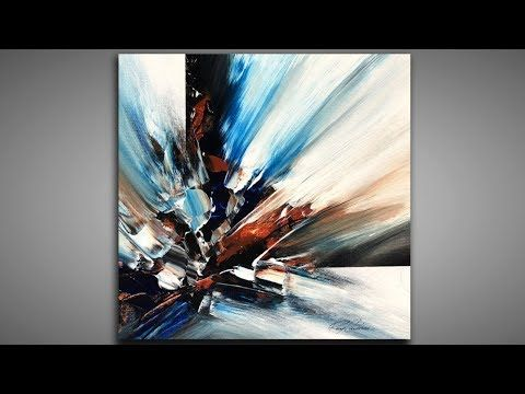 Abstract Painting Layers And Depth 140 Palette Knife Masking Demonstration Abstract Abstract Art Paintings Acrylics Contemporary Abstract Modern Art