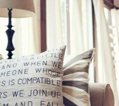 Make a stenciled quote pillow! LOVE THIS
