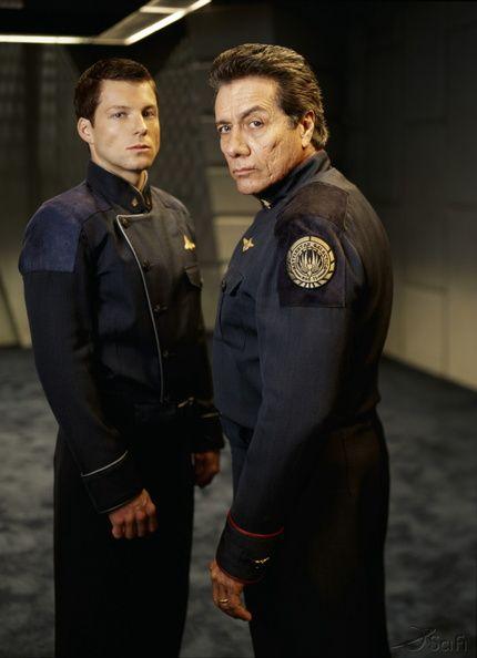 "Captain Lee ""Apollo"" Adama (Jamie Bamber) & Commander William Adama (Edward James Olmos) - Battlestar Galactica (2003-09)"