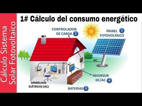 1 Calculo Sistema Solar Aislado Componentes Y Consumo Energetico Youtube Sistema Solar Instalacion Instalaciones Solares Fotovoltaicas