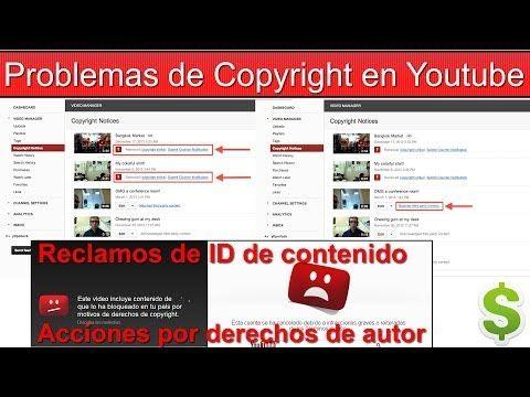 Problemas De Copyright En Youtube Youtube Problemas Videos