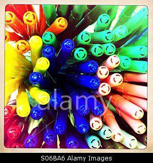 Colourful felt tips © Teresa Williams / Stockimo / Alamy
