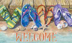 Flip Flops Welcome Doormat